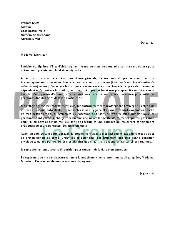 lettre de motivation auxiliaire de vie d u00e9butant