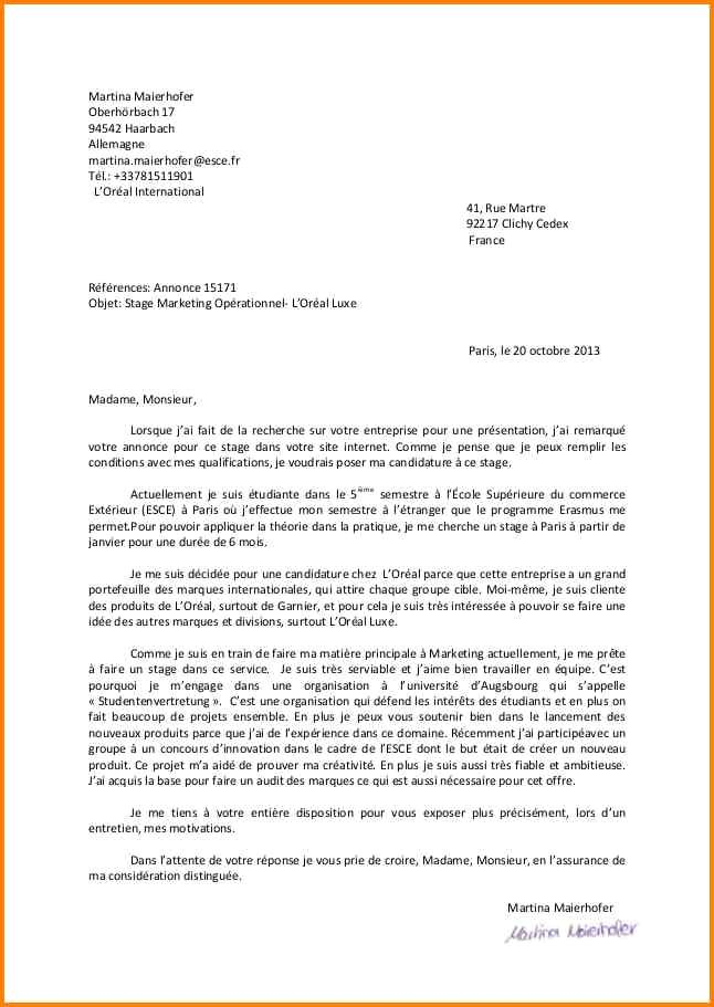 lettre de motivation ecole superieur