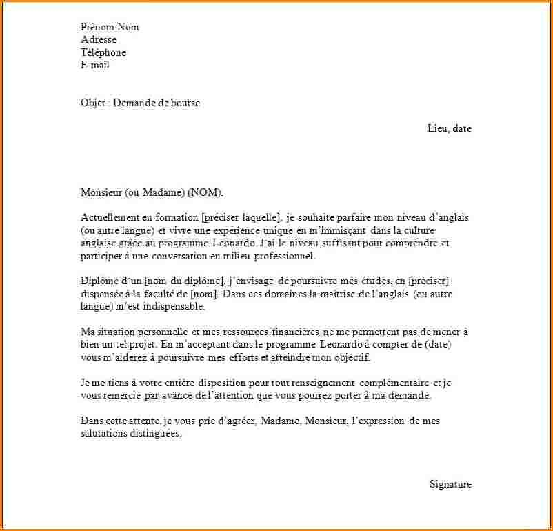 exemple lettre de motivation erasmus anglais