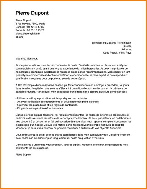 exemple lettre de motivation poste infirmier