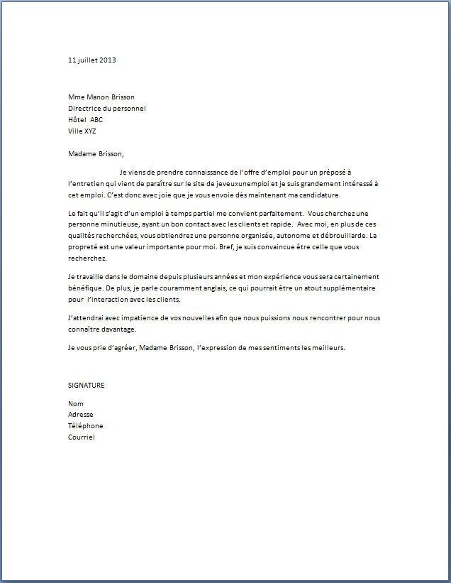 lettre de motivation pour agent de propret u00e9