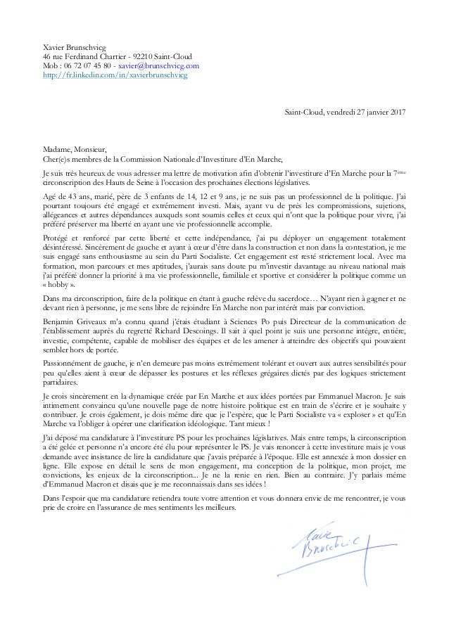 mod u00e8le lettre de motivation sciences po