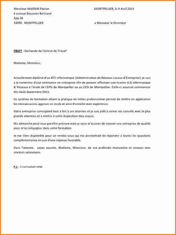 lettre de motivation bts sp3s en alternance pour entreprise