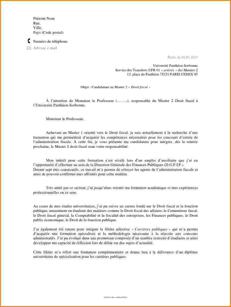 lettre de motivation oenologie
