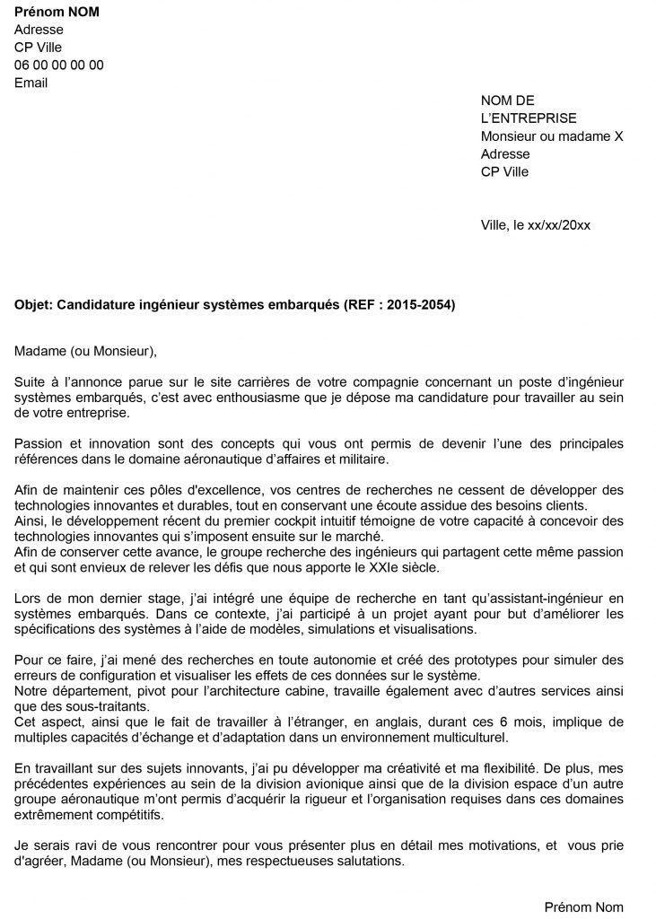 lettre de motivation r u00e9ponse annonce emploi