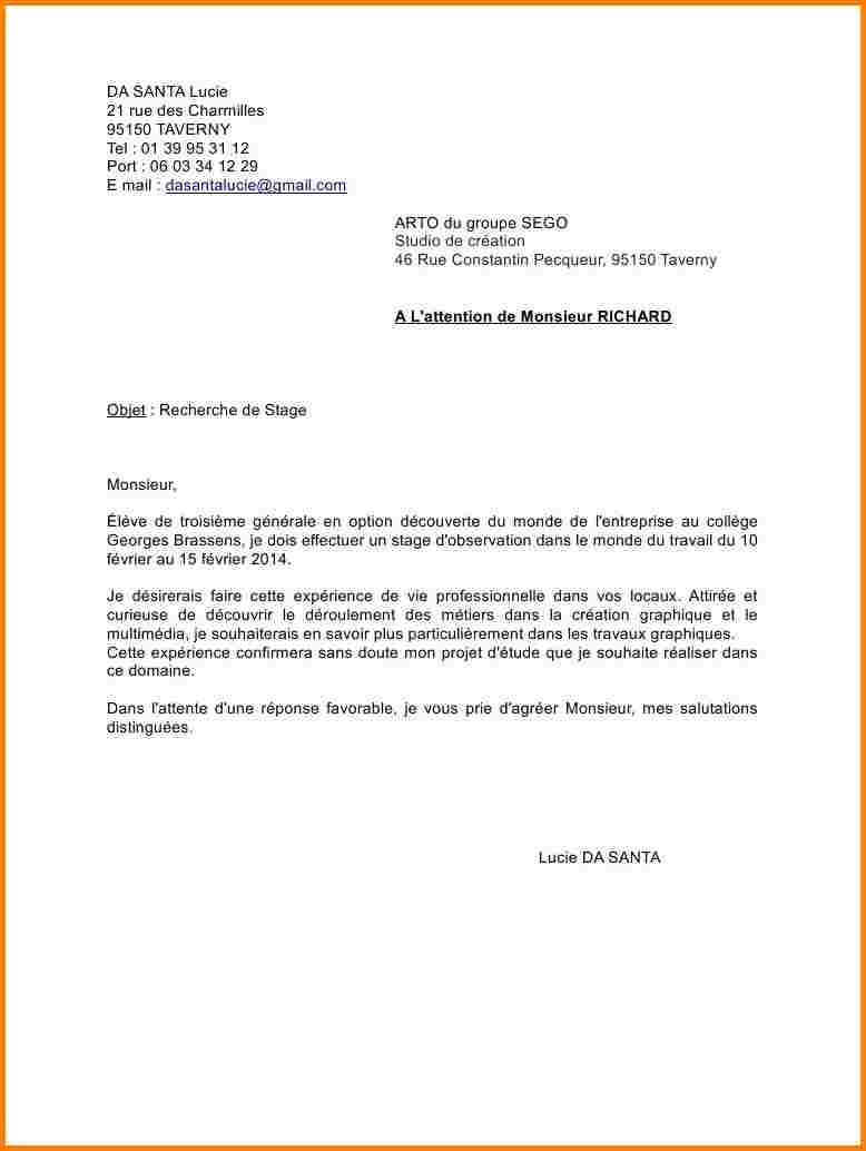lettre de motivation sans connaitre le nom de l u0026 39 entreprise