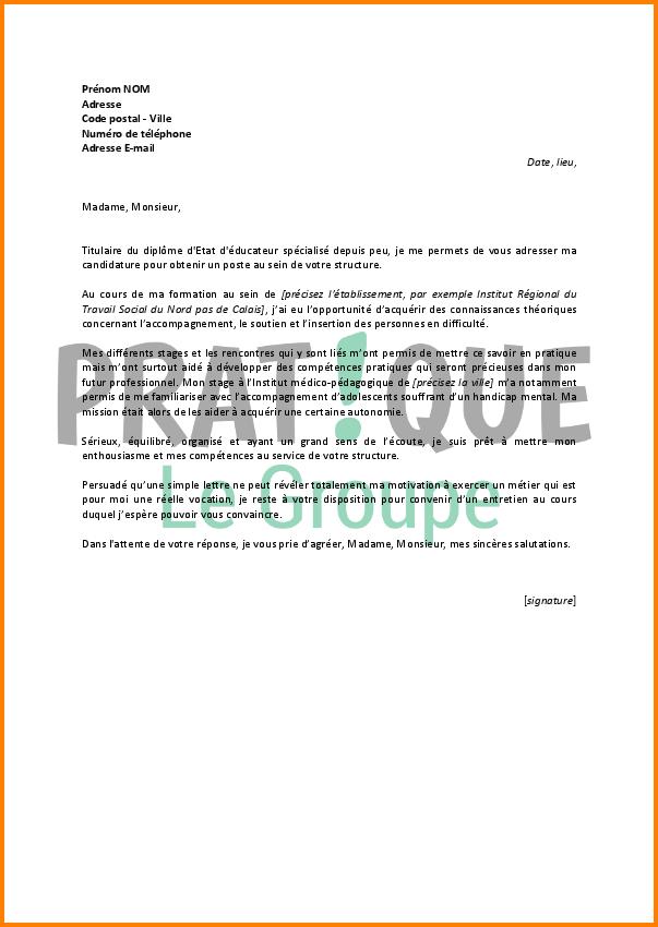 lettre de motivation stage educ sp u00e9