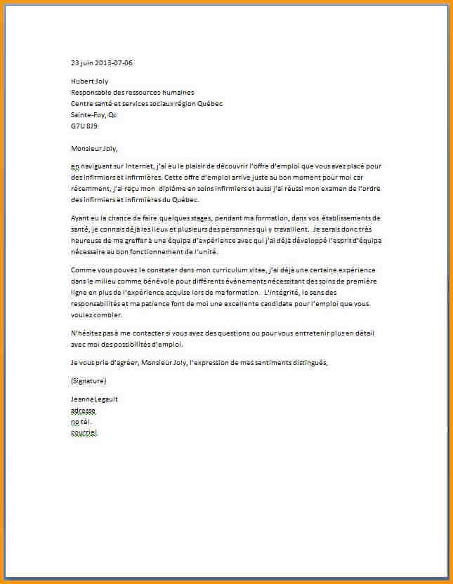 exemple lettre de motivation ecole infirmiere