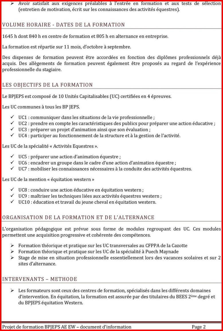 lettre de motivation bpjeps equitation