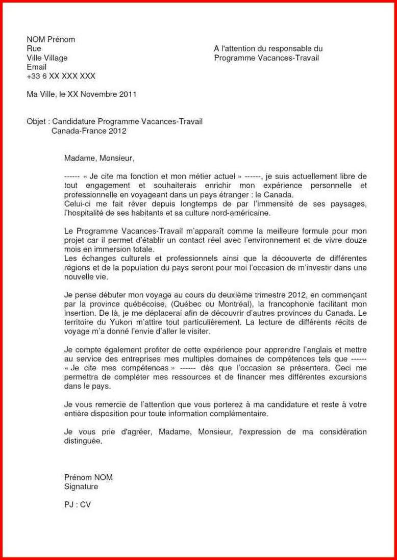 lettre de motivation  u00e9change universitaire canada