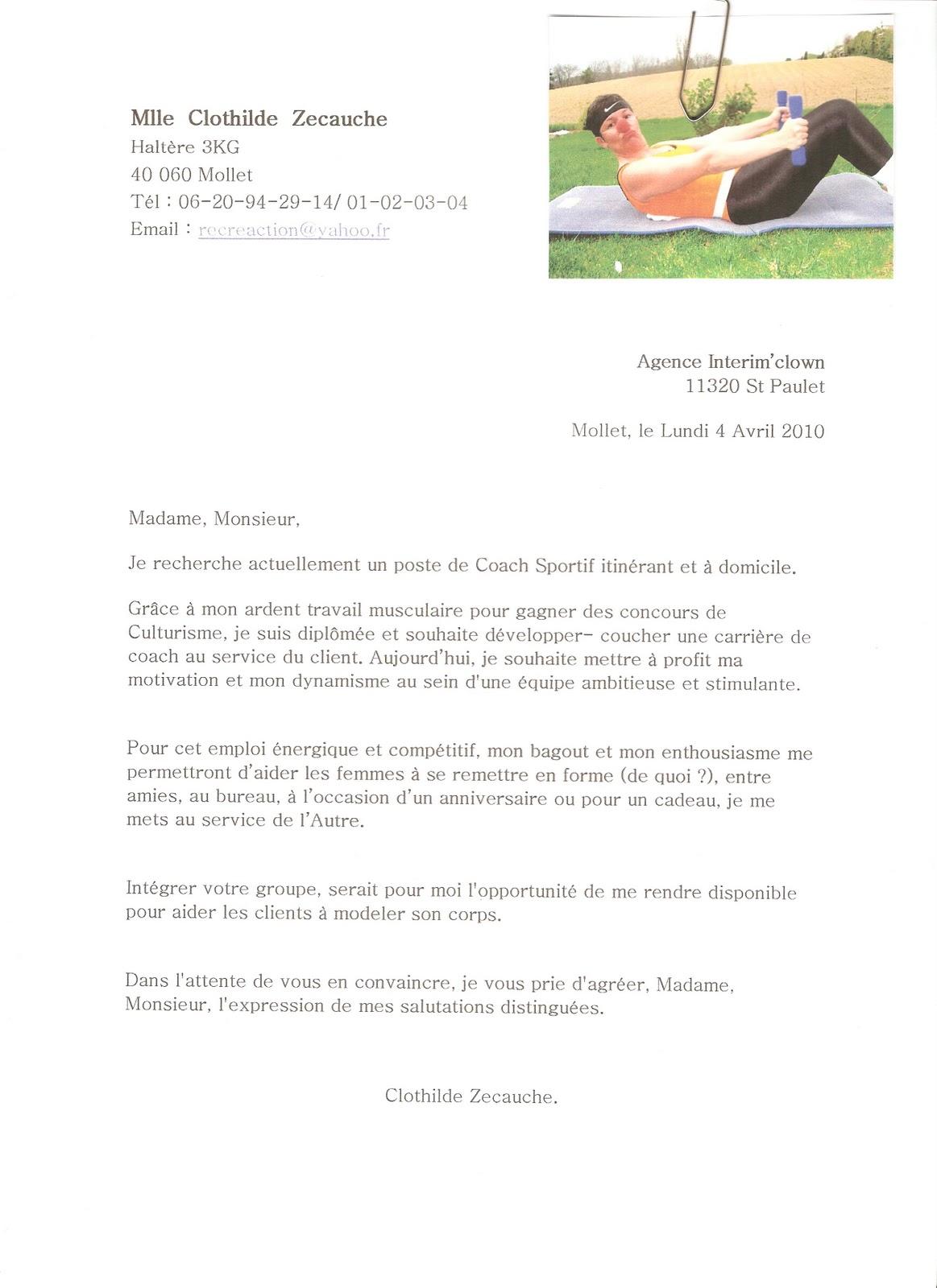 lettre de motivation enseignant maternelle