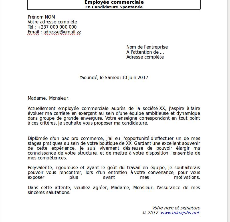 lettre de motivation candidature spontan u00e9e en anglais