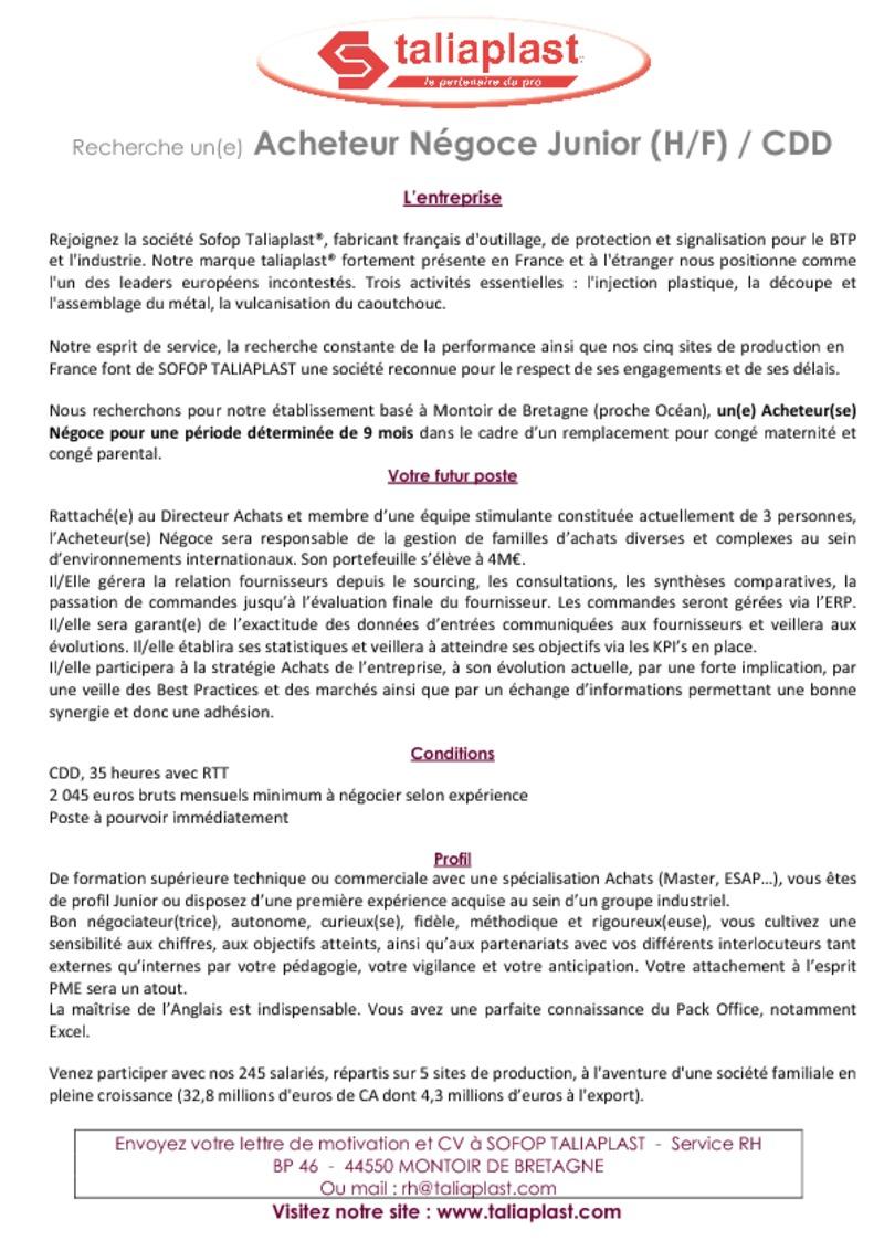 lettre de motivation pour un remplacement cong u00e9 maternit u00e9