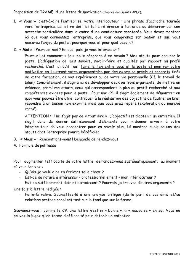 apec lettre de motivation pdf