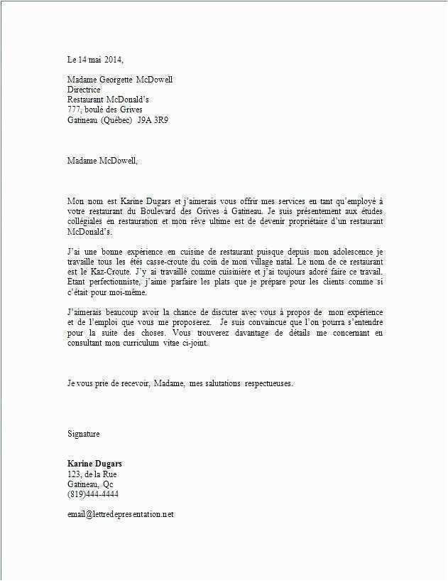 lettre de motivation pour un emploi en creche