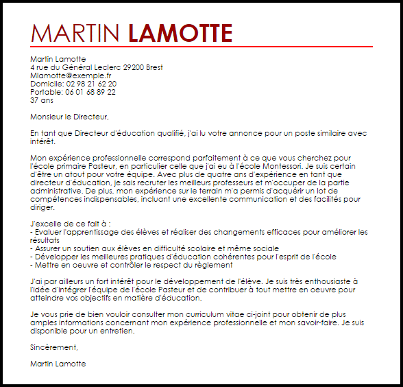 lettre de motivation responsable recrutement