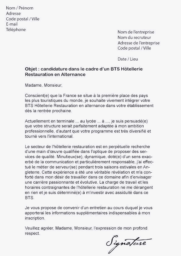 lettre de motivation bts maintenance des v u00e9hicules