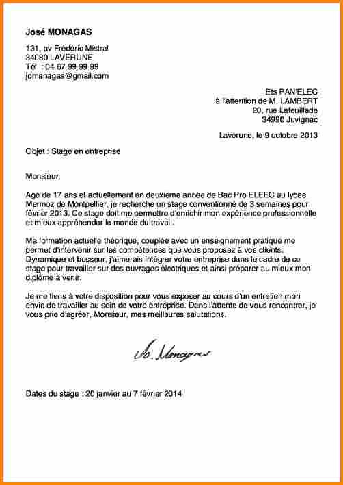 lettre de motivation pour bac pro commerce en alternance