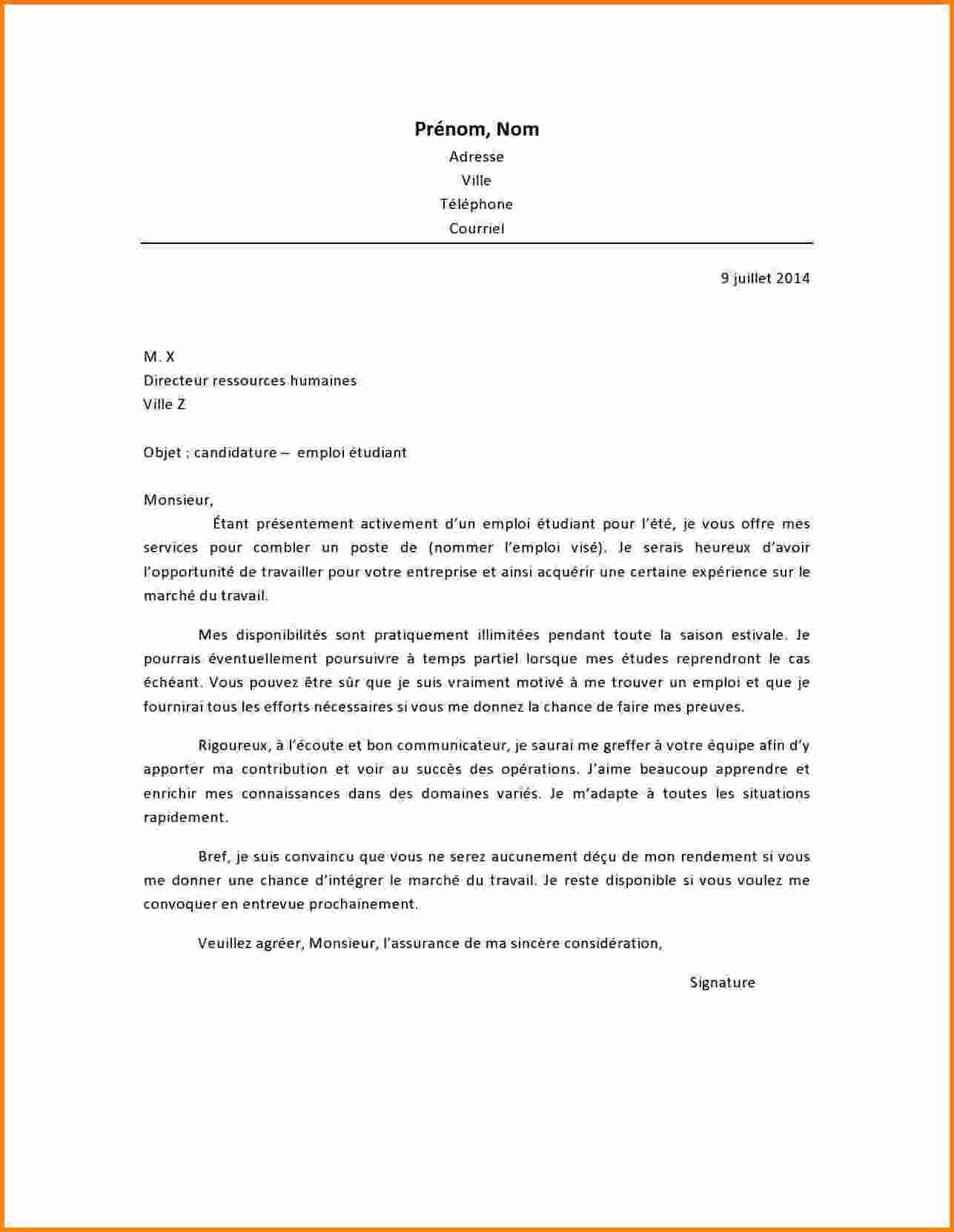 lettre de motivation de brancardier