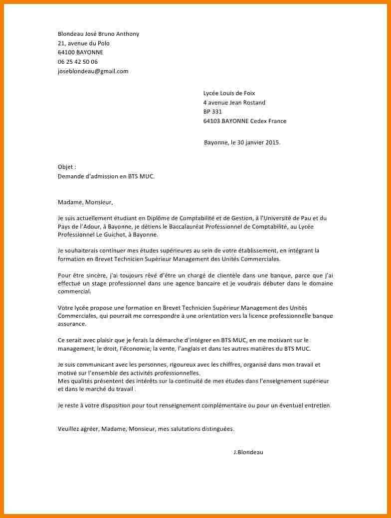 lettre de motivation bts assurance alternance entreprise