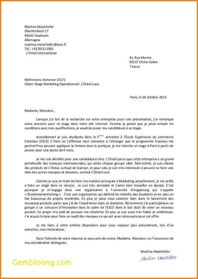 ecole de commerce lettre de motivation
