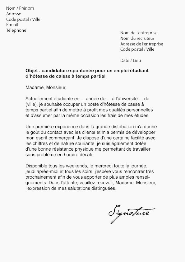 lettre de motivation dans la grande distribution