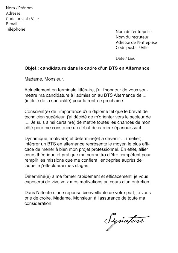 lettre de motivation r u00e9orientation dut tc