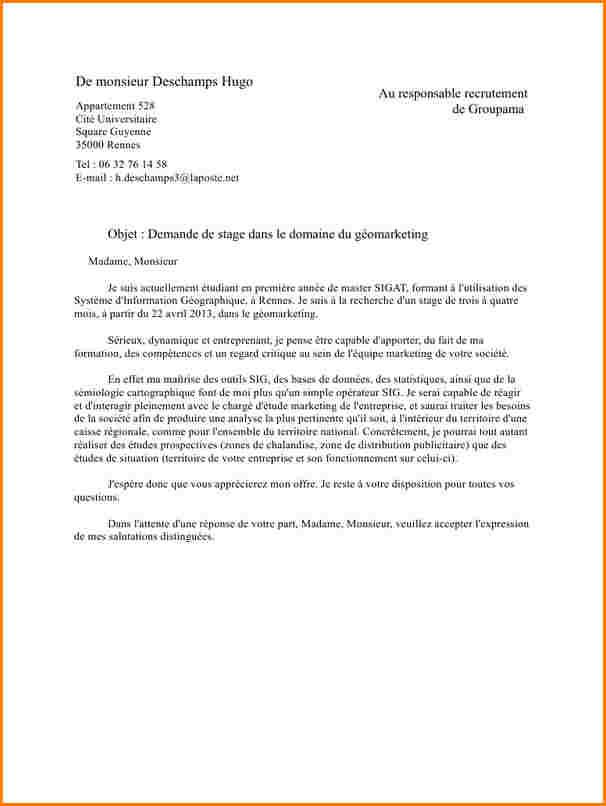 lettre de motivation l u0026 39 etudiant