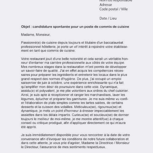 lettre de motivation spontan u00e9e administration