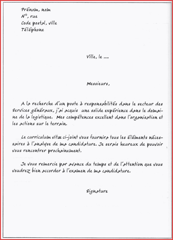 lettre de motivation agent de restauration sans experience