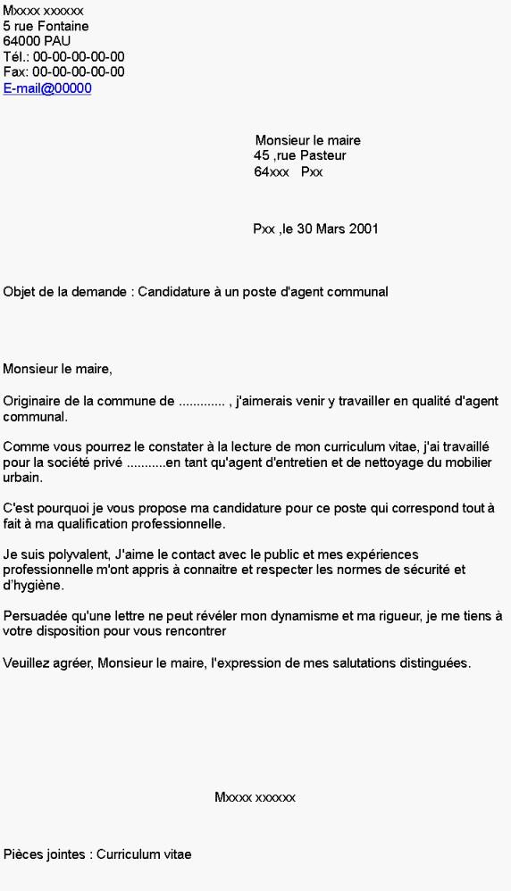 lettre de motivation fonction publique adjoint technique