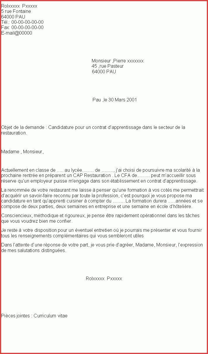 lettre de motivation apprentissage horticulture