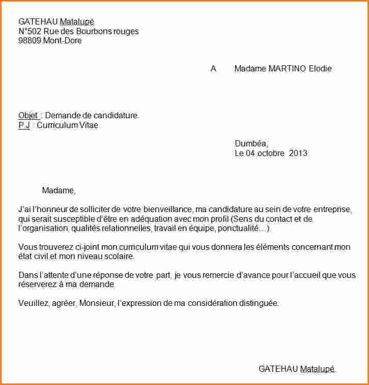 lettre de motivation pj curriculum vitae