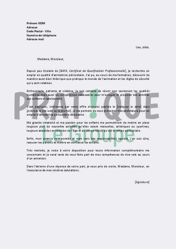 exemple lettre de motivation auxiliaire ambulancier
