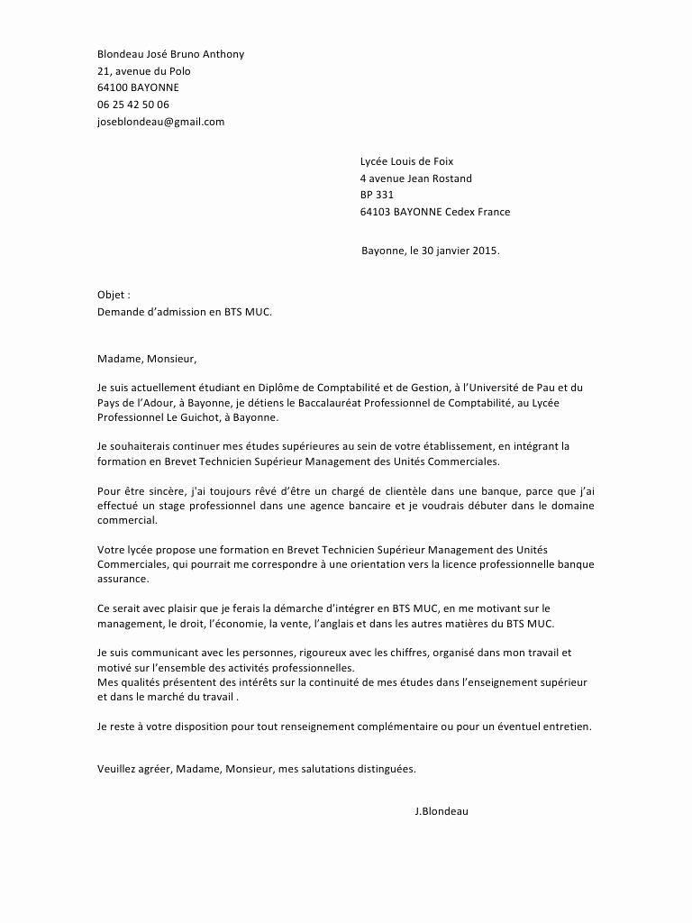 lettre de motivation bts production systeme numerique