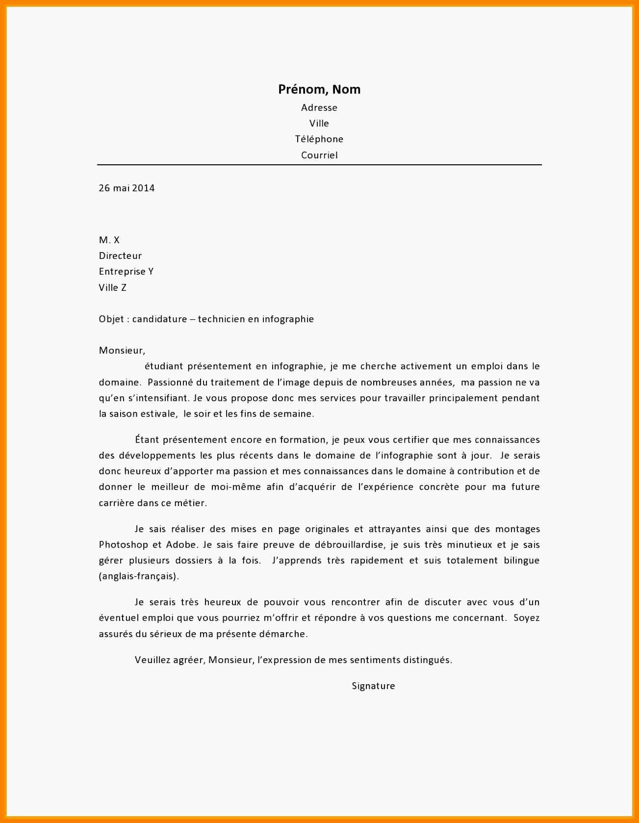 lettre de motivation pour un poste de chauffeur livreur