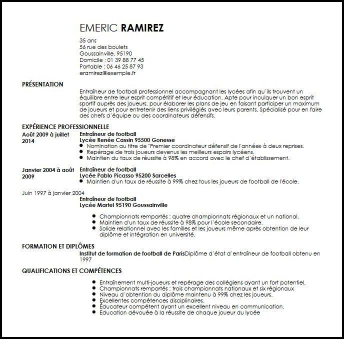 lettre de motivation formation entraineur