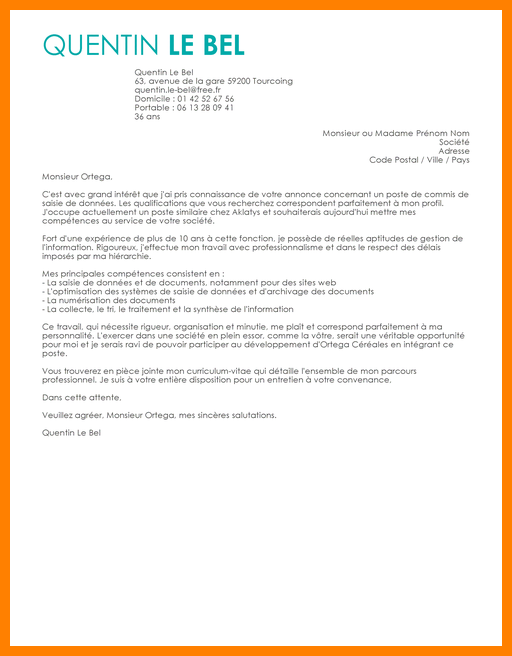 lettre de motivation conducteur de pelle