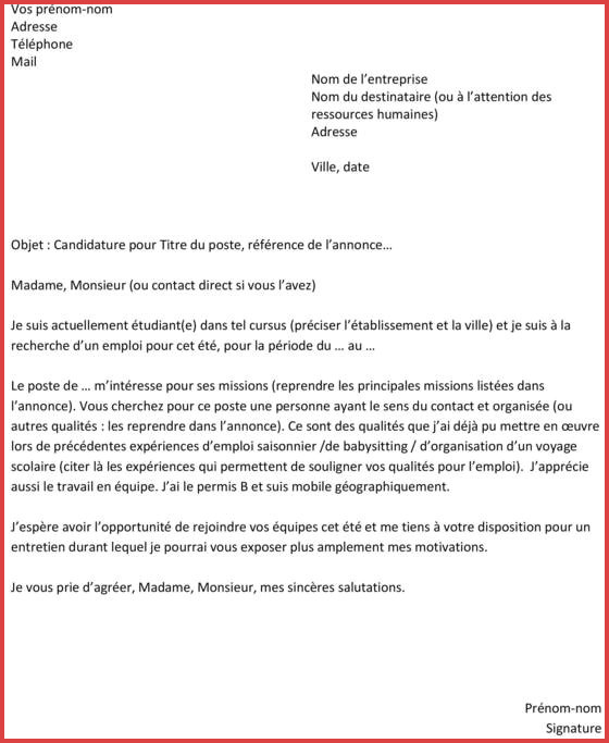 lettre de motivation dut tc descartes