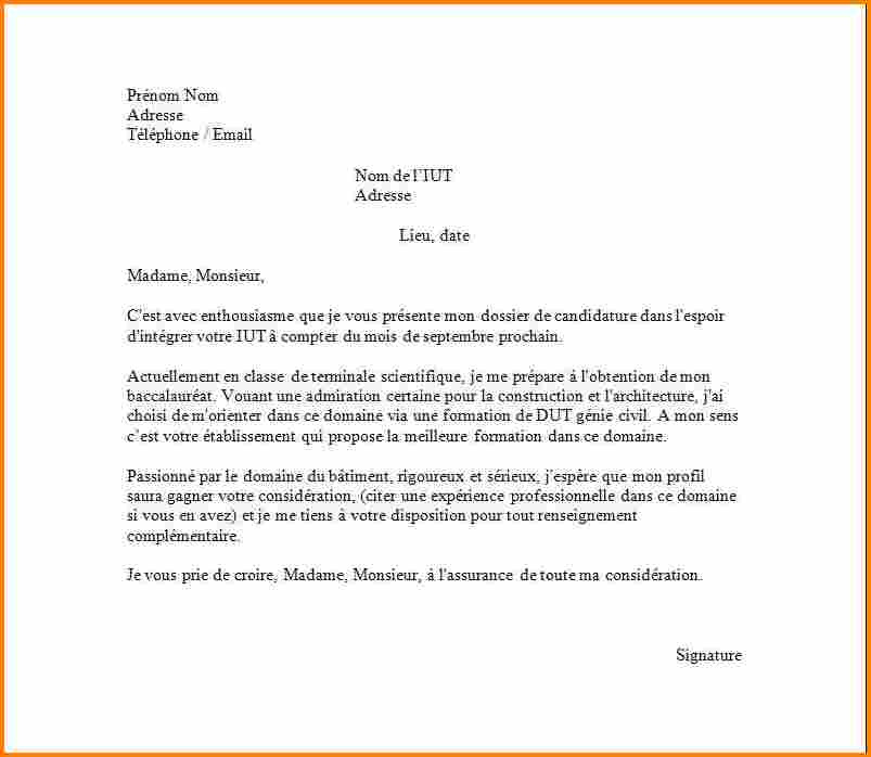 dut gmp lettre de motivation