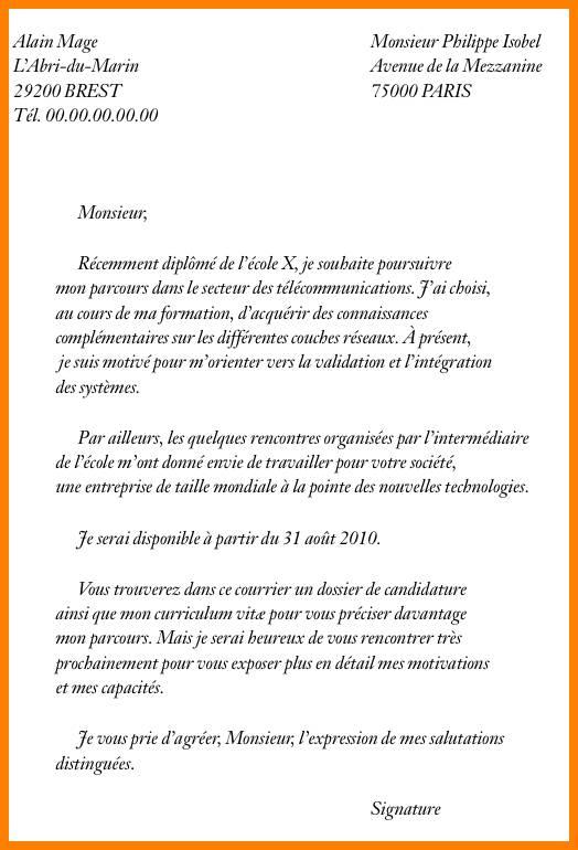 lettre de motivation post bac ecole d u0026 39 ingenieur