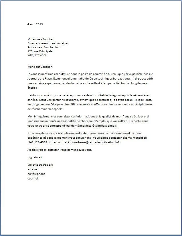 lettre de motivation basket