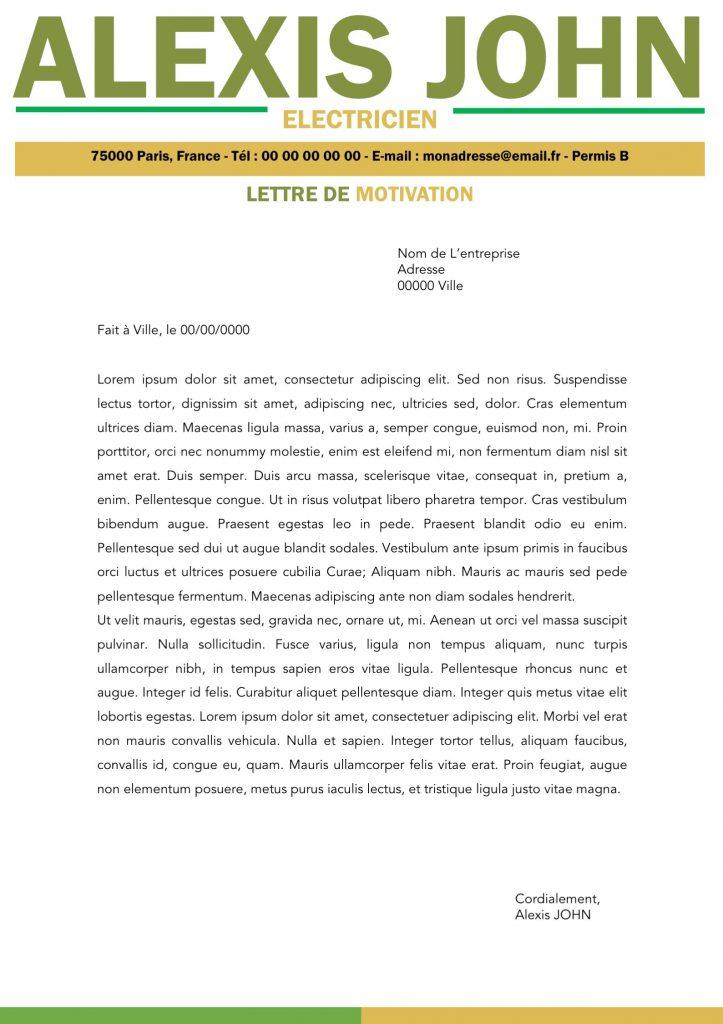 lettre de motivation information