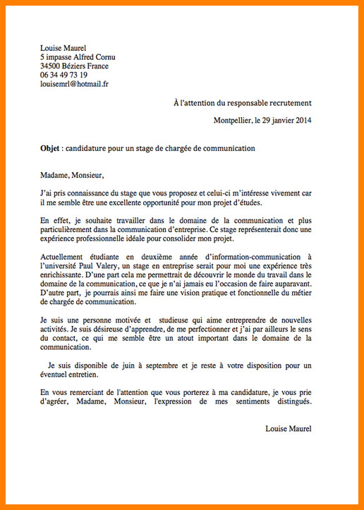 lettre de motivation promotion interne la poste