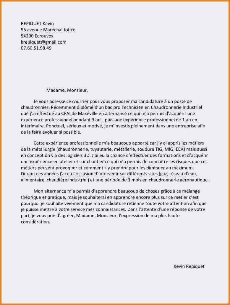 Exemple lettre de motivation pour bts sp3s - laboite-cv.fr