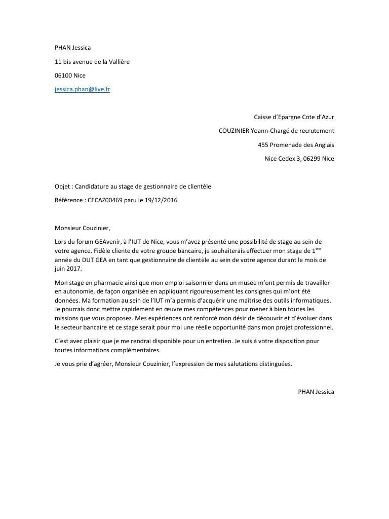 lettre de motivation stage 1ere ann u00e9e dcg