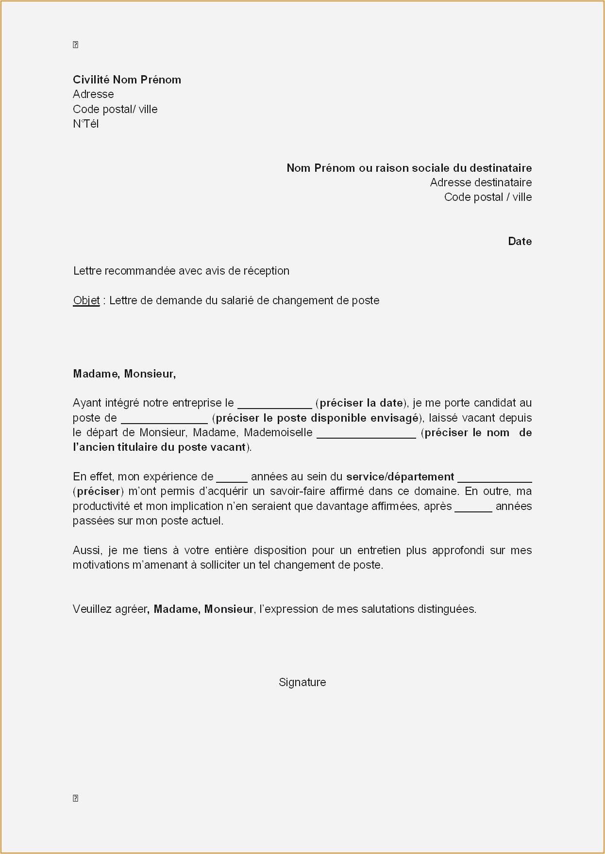 lettre de motivation adresse destinataire
