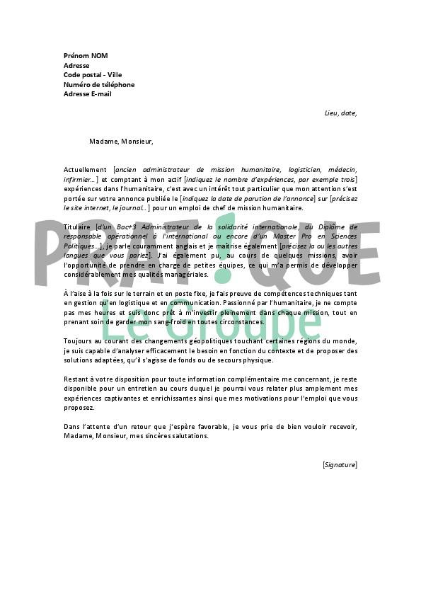 lettre de motivation cadre de sant u00e9 en ehpad