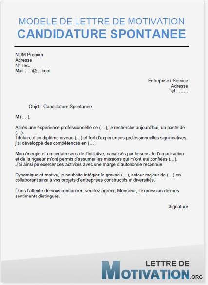 lettre de motivation spontan u00e9e job  u00e9tudiant