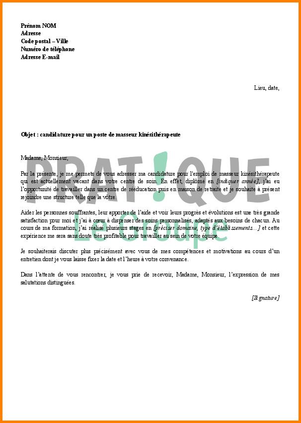 lettre de motivation pour un poste maitresse maison